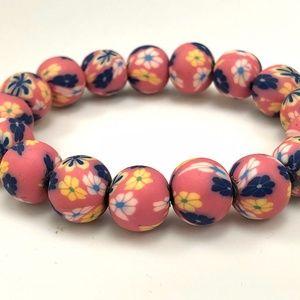 Round Fimo Clay Handmade Bracelet